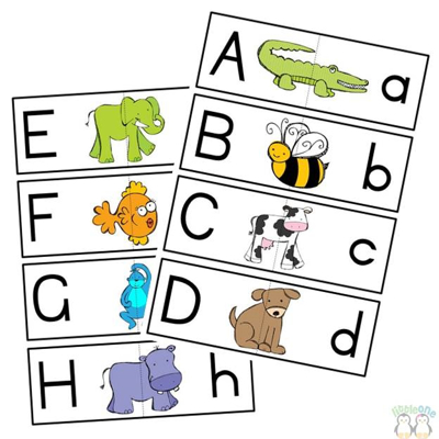 Picture of A-Z matching cards Plain Letters