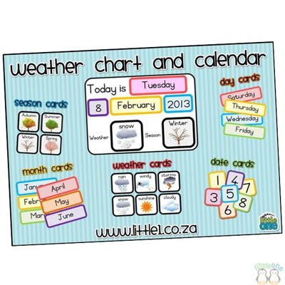 Picture of Weather Chart & Calendar