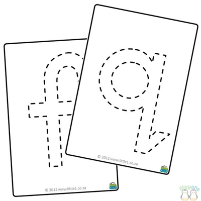 Picture of Playdough Mats - A-Z - Lower case - Black and White