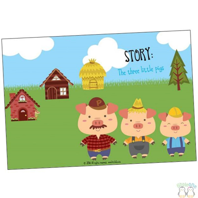 Picture of Story Props: The three little pigs