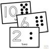 Picture of Pom-Pom Mats - Numbers 1-10 - Black and White