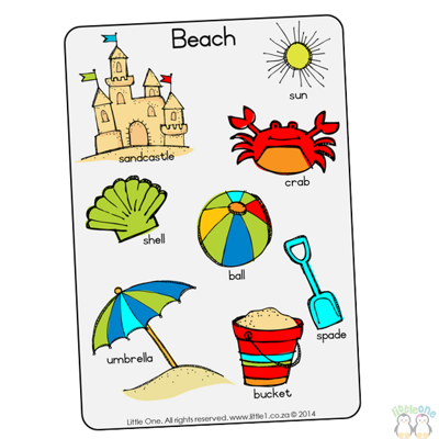 Picture of Theme Wall Chart - Beach