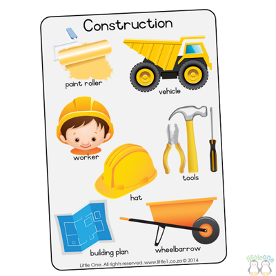 Picture of Theme Wall Chart - Construction