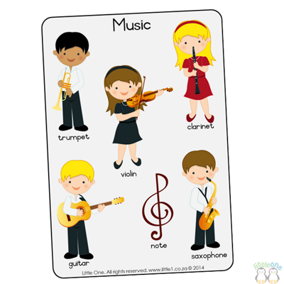 Picture of Theme Wall Chart - Music