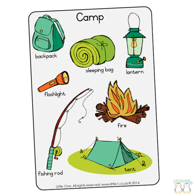 Picture of Theme Wall Chart - Camp