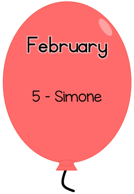 Picture of Balloons Birthday banner for class [Jan-Dec]