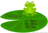 Picture of Froggie Birthday banner for class [Jan-Dec]
