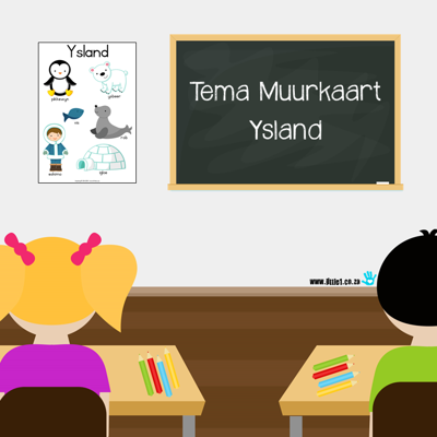 Picture of Tema Muurkaart {Ysland}