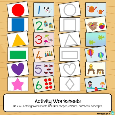 Picture of Activity Worksheets for 1-3 year olds