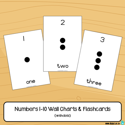 Picture of Flashcards & Wall Charts {Numbers 1-10}
