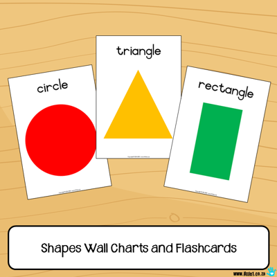 Picture of Flashcards & Wall Charts {Shapes}