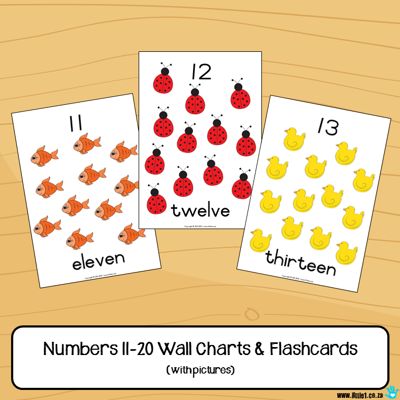 Picture of Flashcards & Wall Charts {Numbers 11-20} with pictures