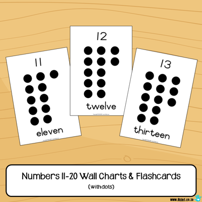 Picture of Flashcards & Wall Charts {Numbers 11-20}
