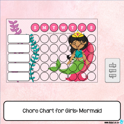 Picture of Chore Chart - Mermaid