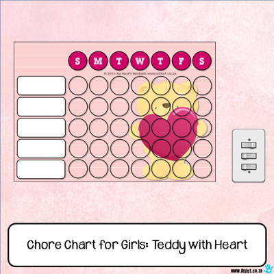 Picture of Chore Chart - Teddy Bear With Heart