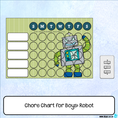 Picture of Chore Chart - Robot
