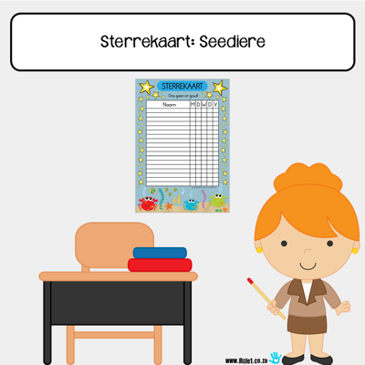 Picture of Sterrekaart {A3}: Seediere