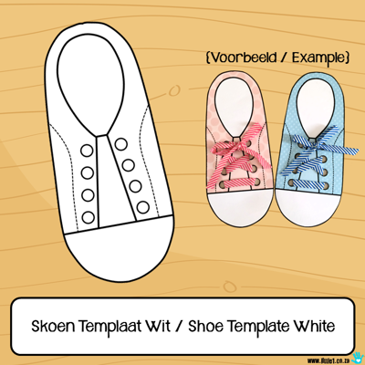 Picture of Skoen Templaat Wit / Shoe Template White