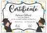Picture of Graduation Certificate {Editable Template} Grade RR/00/R/0