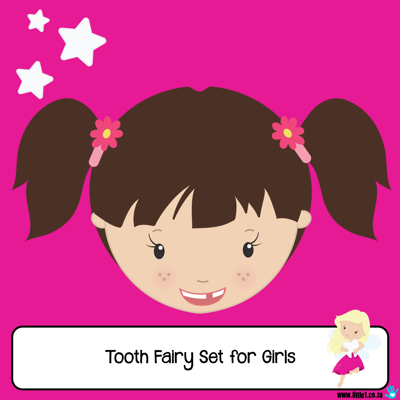 Picture of Tooth Fairy Letter Set for Girls