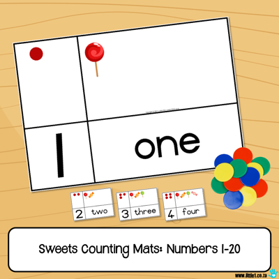 Picture of Sweets Counting Mats - Numbers 1-20