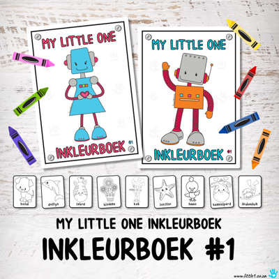 Picture of My Little One Inkleurboek #1 met 50 woorde