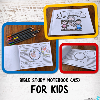 Picture of Bible Study Notebook for Kids {A5}