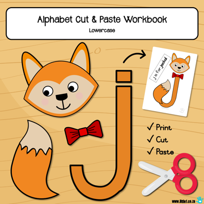 Picture of Workbook - Alphabet {A-Z} Cut & Paste (lowercase)