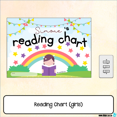 Picture of Reading Chart {girls}